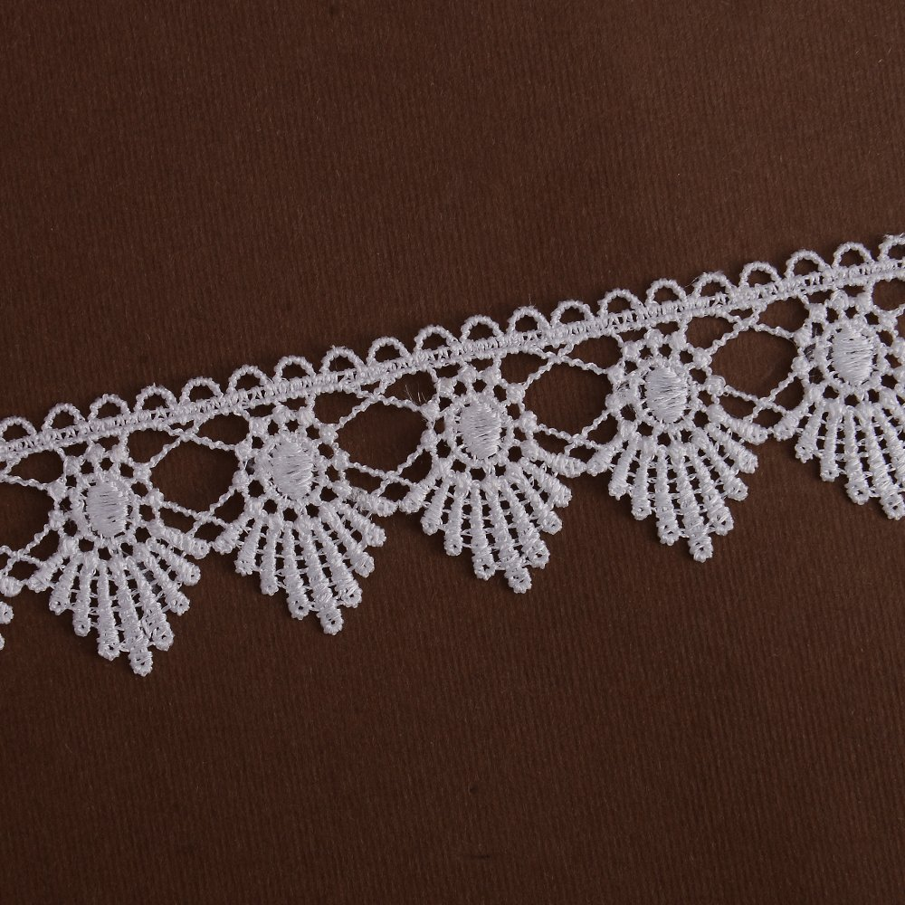 Chemical Lace Trim White